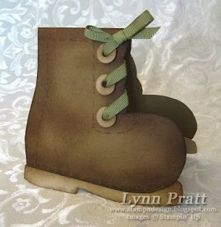 Work boot card. This would be cute for my dad for Father's Day or his birthday.