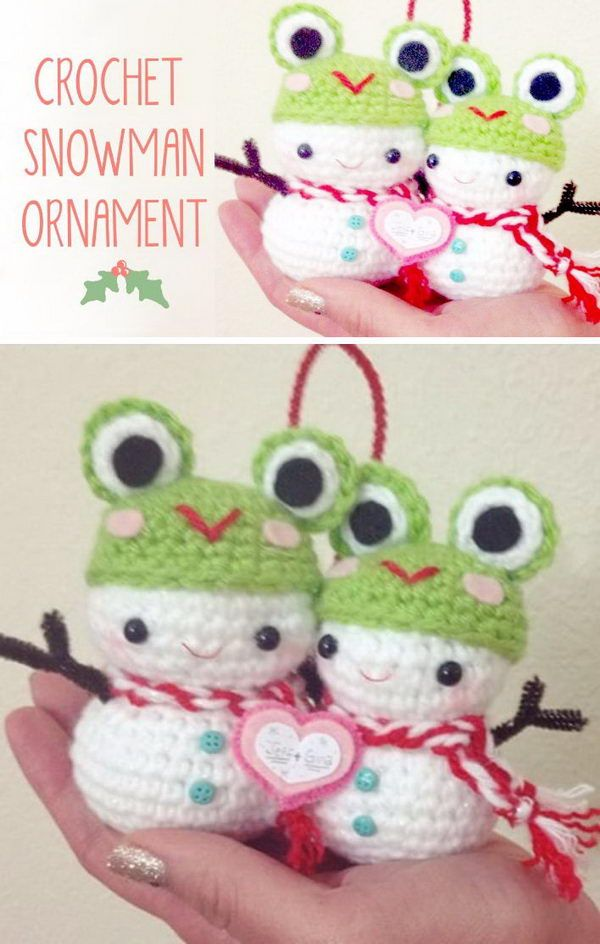 25 Free Christmas Crochet Patterns For Beginners Crochet Snowman