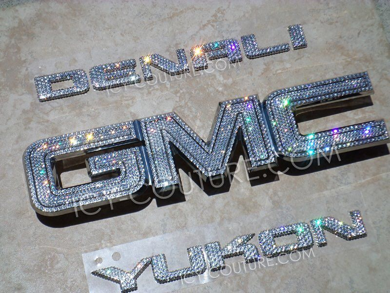 Bedazzled Crystal Gmc Emblem Most Models In 2020 Bling Car Accessories Car Bling Gmc Accessories