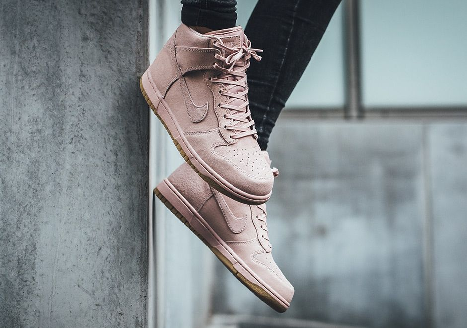 The Nike Dunk High Premium Oxford Pink (Style Code: is now available in a  women's size run featuring Oxford Pink suede and a gum bottom.