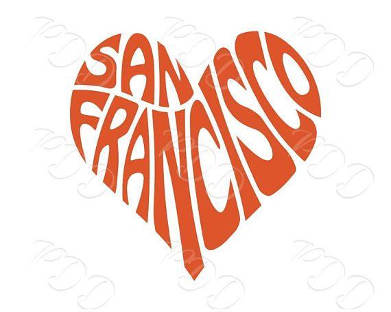 San Francisco Word Art San Francisco Svg Dxf Eps Png Jpg San Etsy Word Art San Words