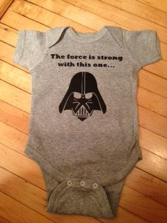 """Star Wars Clothes /""""The Force is Strong/"""" Baby Romper Suit Darth Vader"""