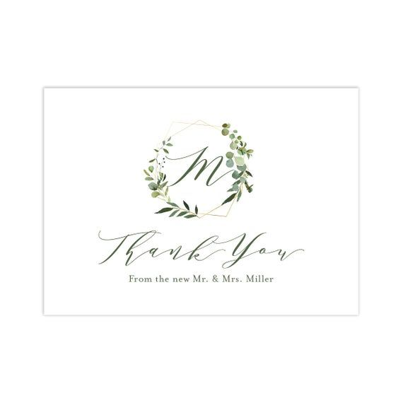 Wedding Thank You Cards | Carlin Wedding Collection | Thank You From the Newlyweds | Newlywed Thank #businessthankyoucards