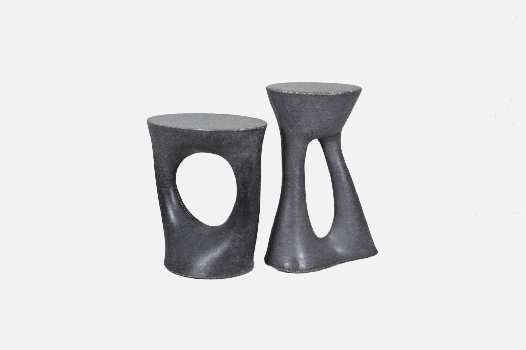 Modern wood side table  Kreten Side Table  Short  Charcoal  Furniture  Side Tables