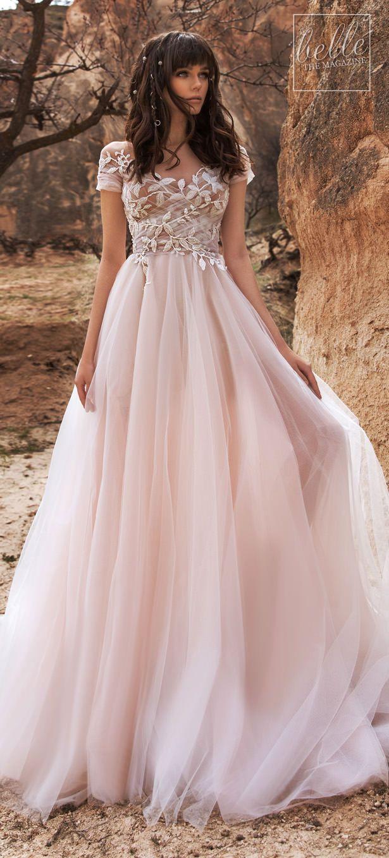 Katherine Joyce Wedding Dress Collection 2020 Belle The Magazine Blush Color Wedding Dress Wedding Dress Cap Sleeves Wedding Dress Champagne