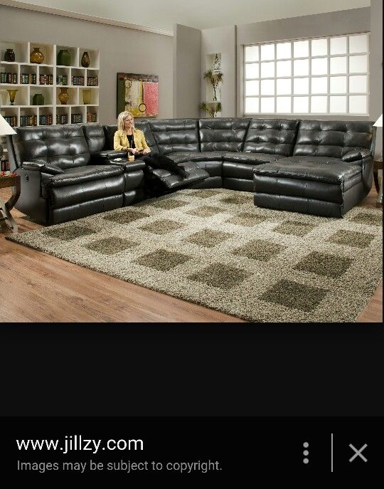 Leather Sectional Sofa With Two Recliners Living Room Decor Family Room Leather Sectional Sofa #two #recliners #in #living #room