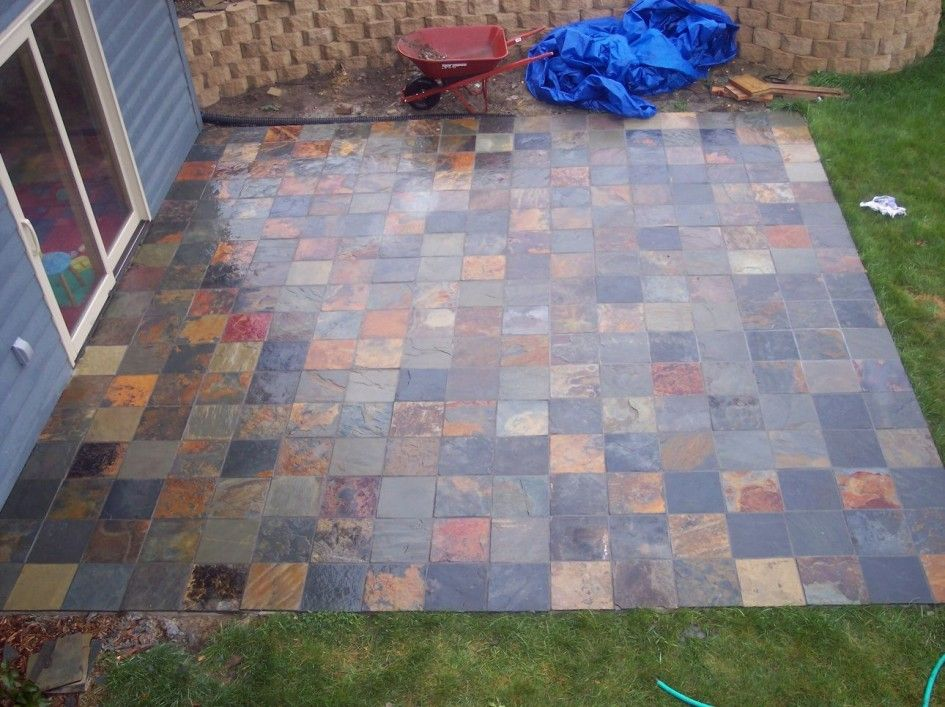 Backyard Patio Ideas : Patio Paver Exclusive Paver Stones Over Concrete  Patio On Stack Bond Floor