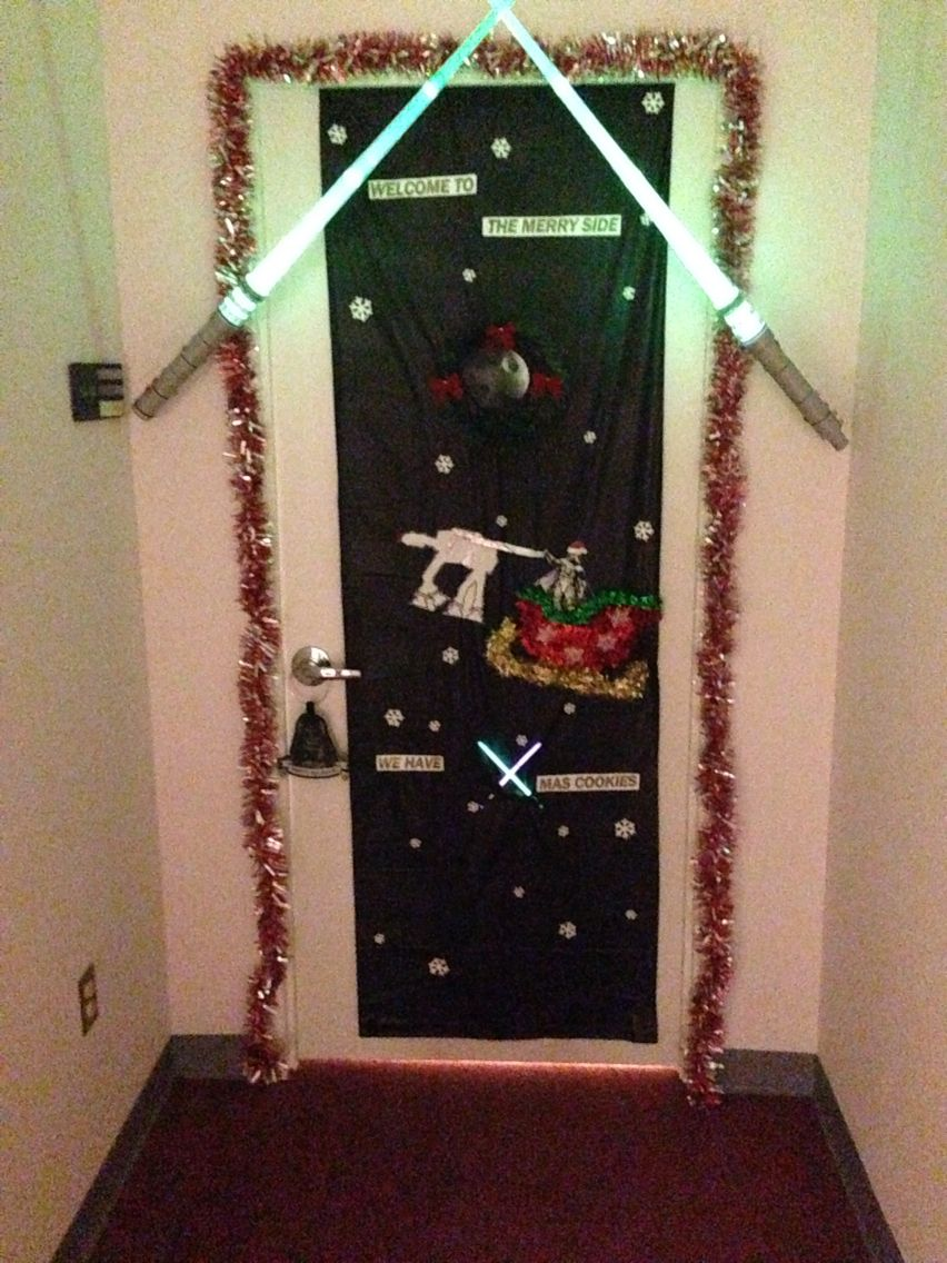 Star Wars Door Decorating Cone At At Office Holiday Party Star