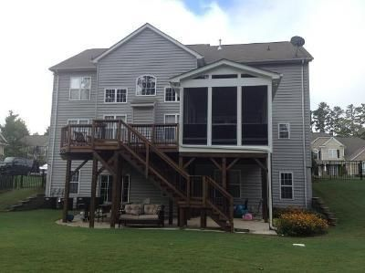 A second story deck and screened porch built with function for House plans with second story porch