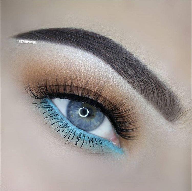 Who says blue eyes and blue shadow/liner don't go together?? @makeupbyan #aqua #aquaeyes #eyemakeup