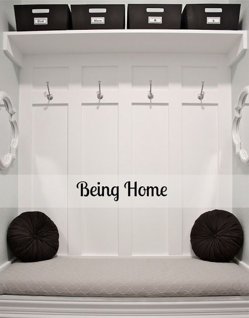 Being Home: Building a Mudroom Bench - Tutorial. BEST TUTORIAL!!!!