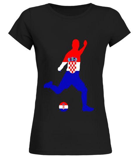 Croatia Flag Sports Jersey Croatian Shirt Round neck T-Shirt Woman ...