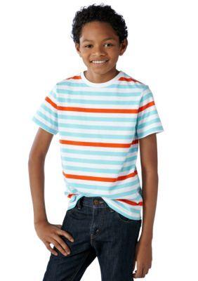 J Khaki   Striped Tee  Boys 8-20