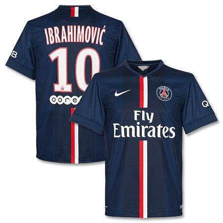 5c82fdafdf966 Camiseta del PSG 2014-2015 Local + Ibrahimovic 10 (Incluye Patrocinadores)