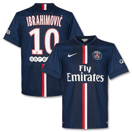 Camiseta del PSG 2014-2015 Local + Ibrahimovic 10 (Incluye Patrocinadores) 5e70d946ebe2f