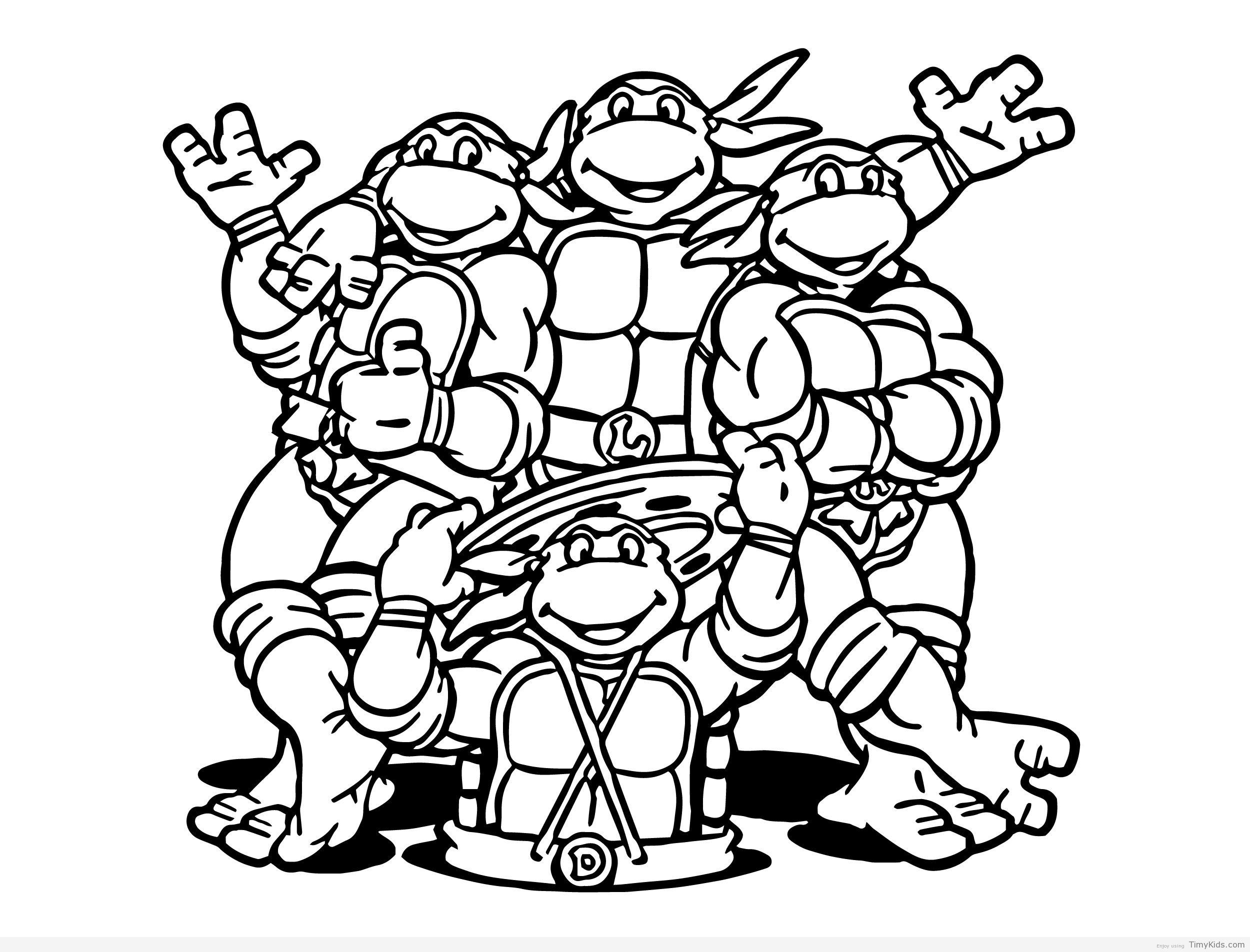 turtles printable coloring