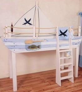 Kinderbett schiff selber bauen  Schiff Ahoi im Kinderhochbett | Abenteuerbett, Hochbetten und ...