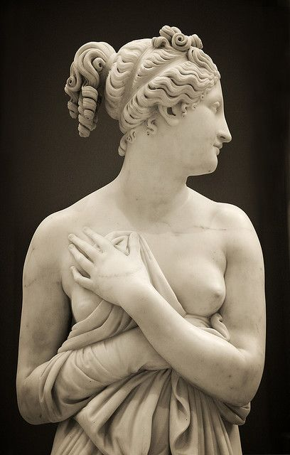 Detail - Antonio Canova   Venus Italica - Probably ca. 1822–23, variant of marble first executed 1810. Height: 69 in. (175.3 cm).