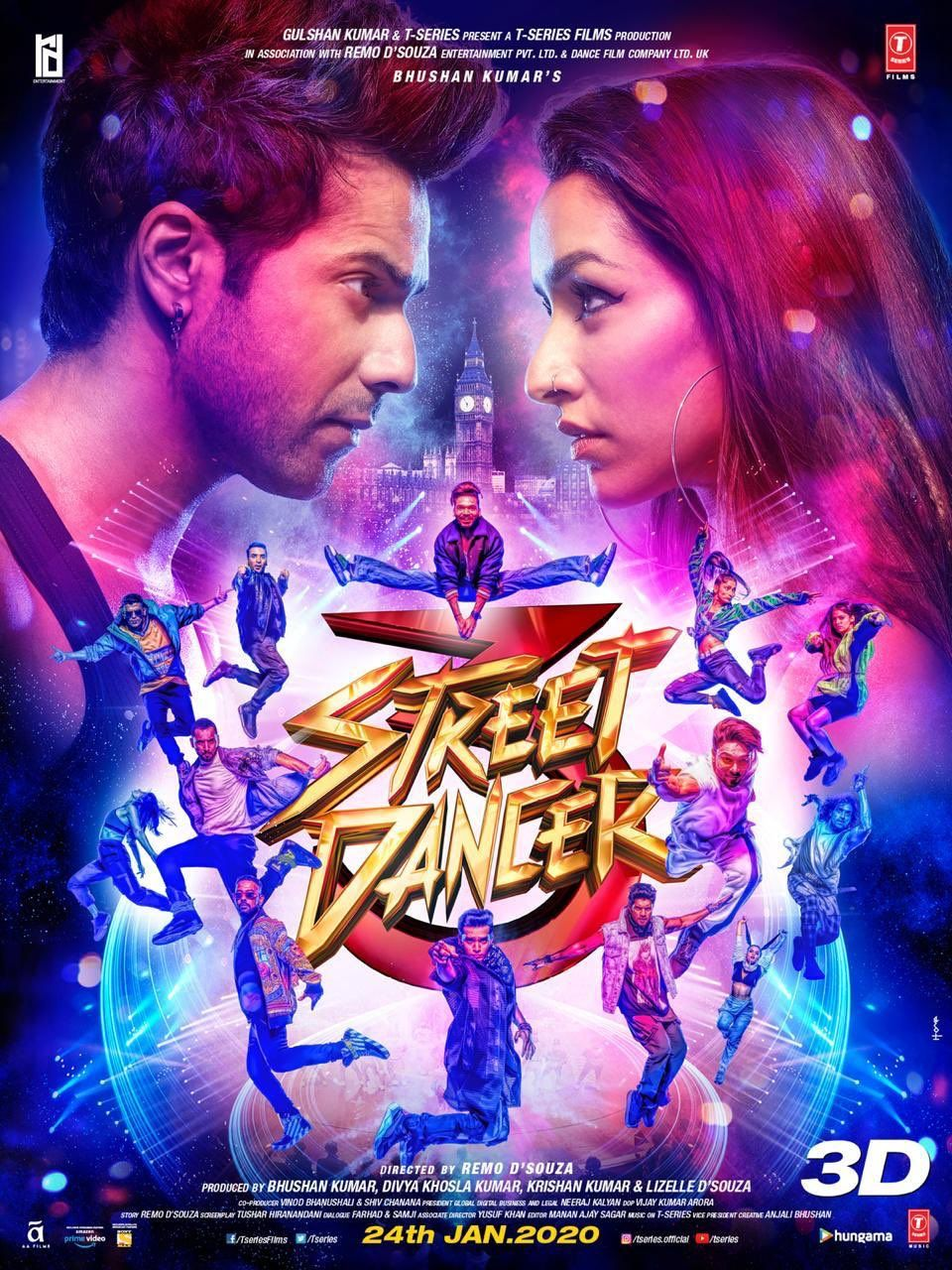 Street Dancer 3d Trailer Varun Dhawan And Shraddha Kapoor Brings India Pak Rivalry From Cricket To Dance Floor Upcoming Movies 2020 Full Movies Download Hindi Movies