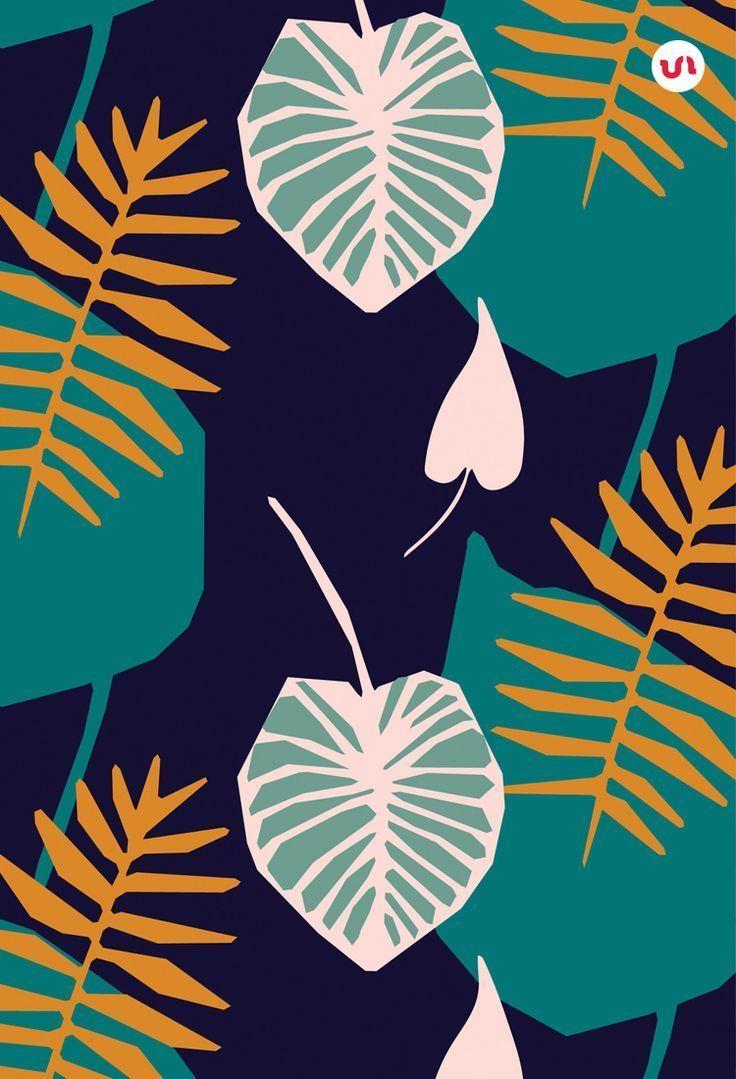 Jungle Seamless Vector Patterns #junglepattern