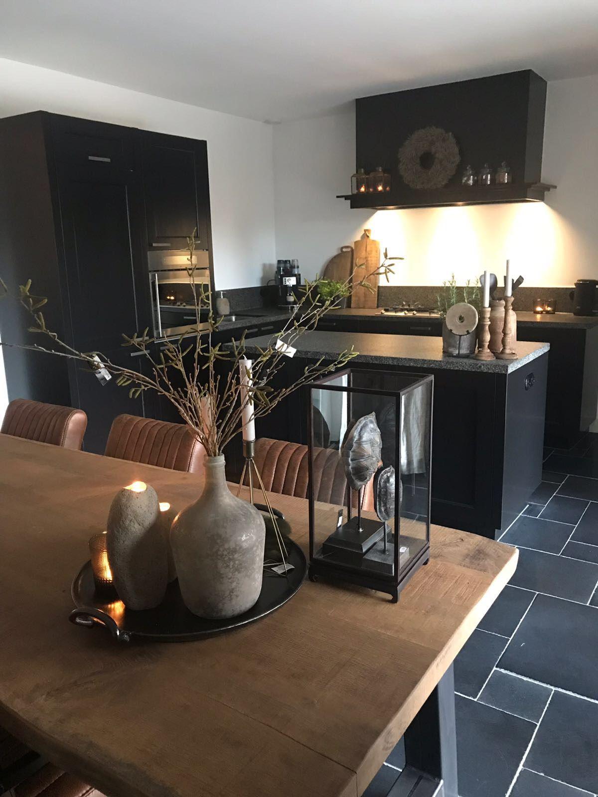 Oud Eiken Eettafel Met Stalen A Poot Appartement Inrichting Eettafel Decoraties Woonkamer Decoratie