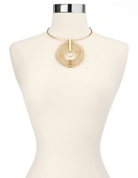 Concentric Circle Ring Necklace: Charlotte Russe