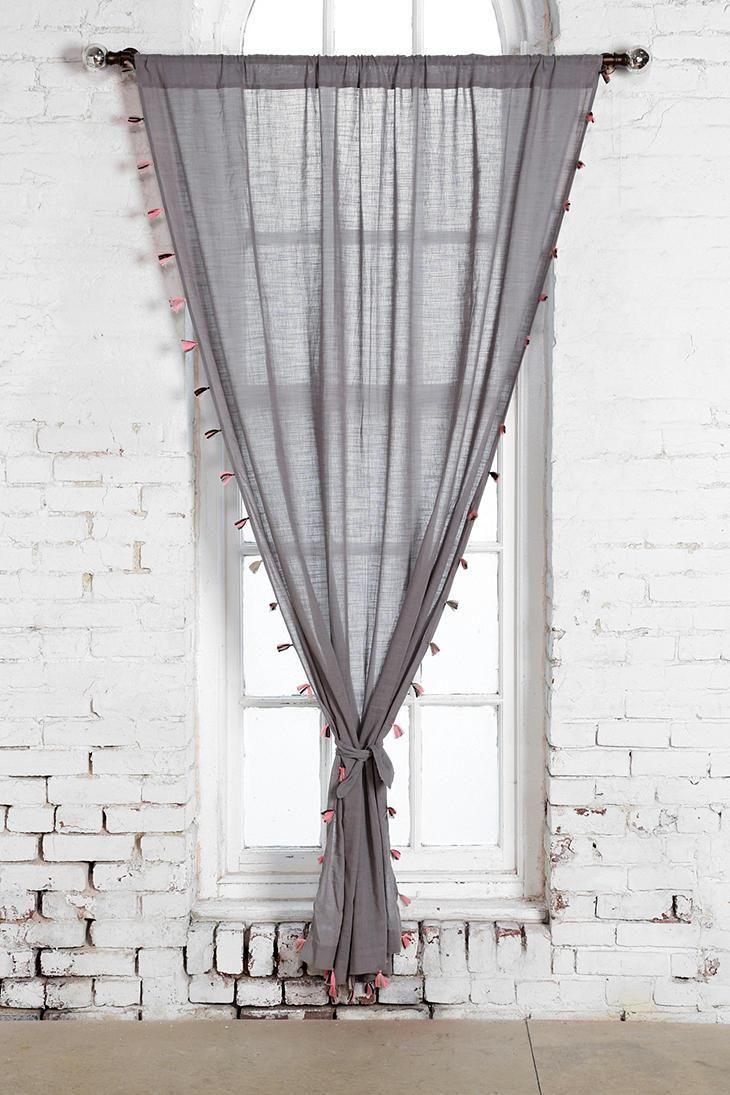 Magical Thinking Fluro Tassel Curtain Tassel Curtains Urban Outfitters Curtains Curtains