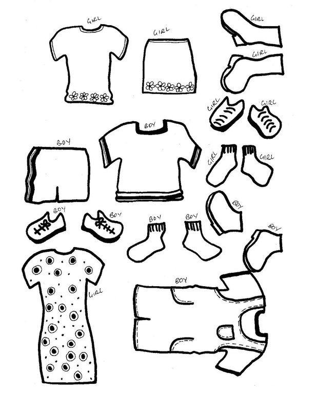 Free Printable Dress up paper doll templates and clothes | Projects ...