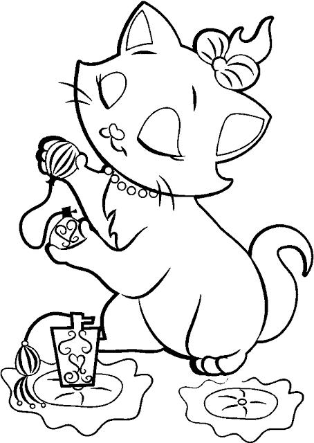 Dibujos y Plantillas para imprimir: Gatos | colorear | Dibujos de