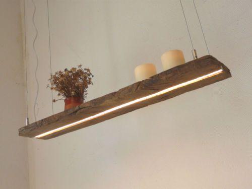 LED Lampe Haengeleuchte Holz Antik Balken Holzlampe Rustikal