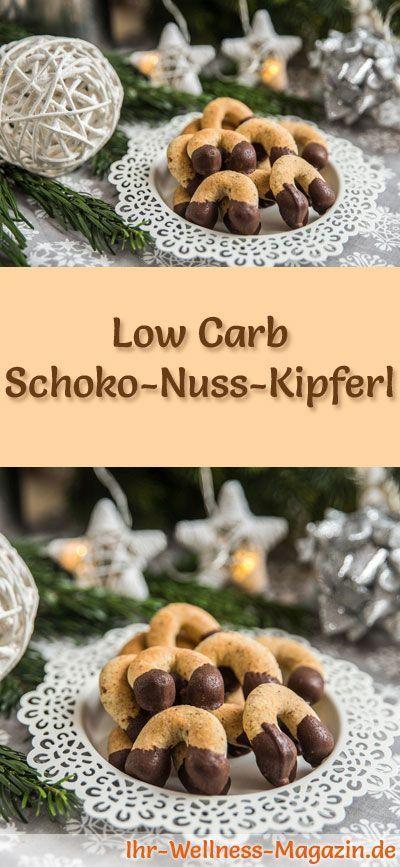 Low Carb Schoko-Nuss-Kipferl - einfaches Plätzchen-Rezept für Weihnachtskekse