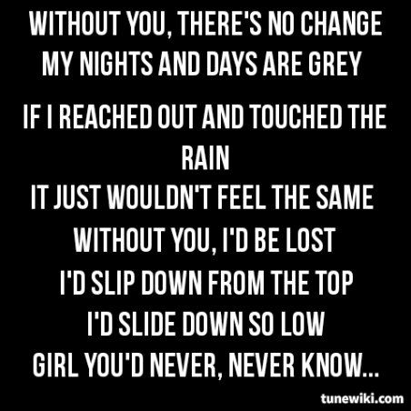Without You Motley Crue Tunewiki Lyricart Band Quotes Song