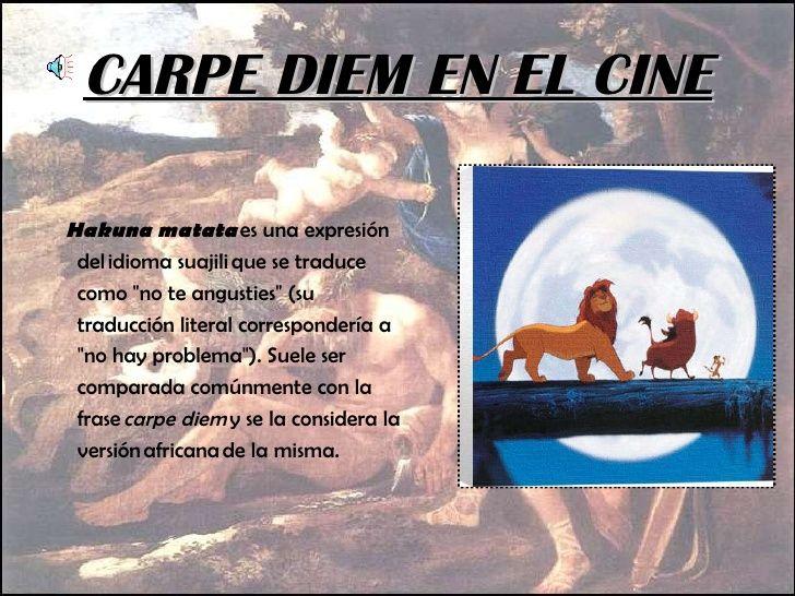 Carpe Diem Topicos Literarios Carpe Diem Canciones