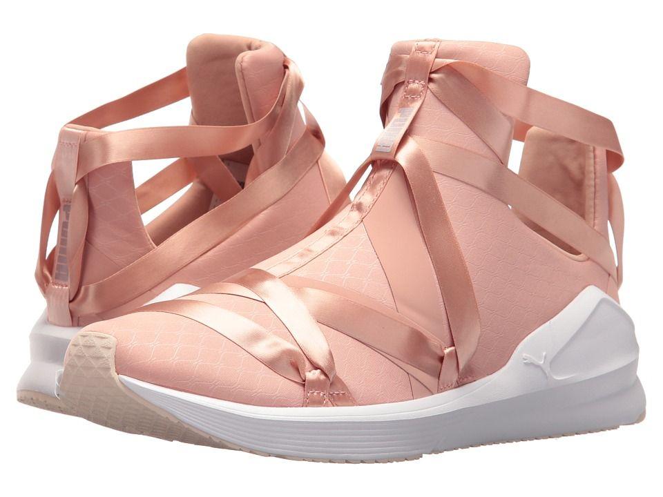 b01aa5771eea88 PUMA Fierce Rope Satin EP Women s Shoes Peach Beige Puma White Pearl ...