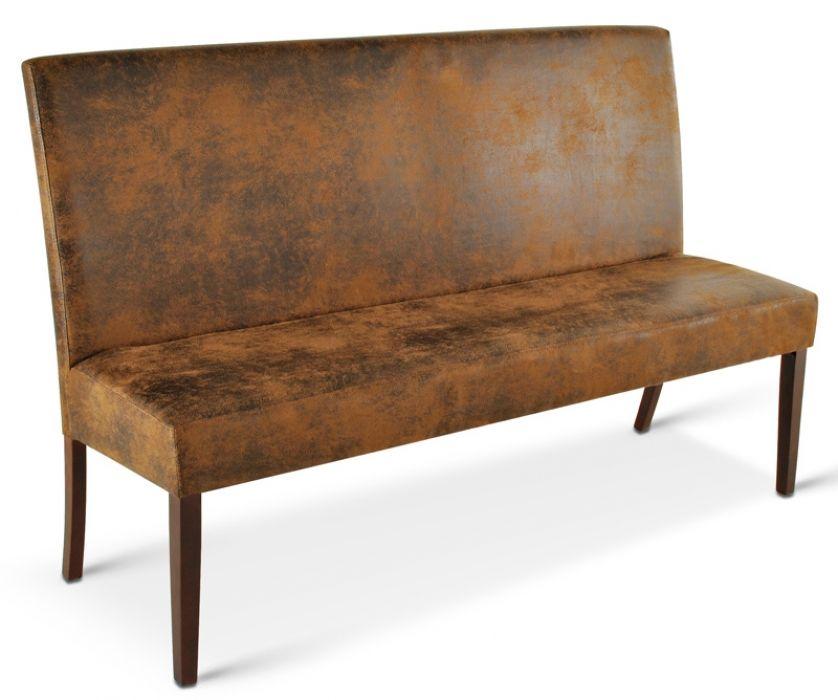 SAM® Esszimmer Sitzbank wildleder optik kolonial 180 cm SALVATORE - esszimmer mit sitzbank