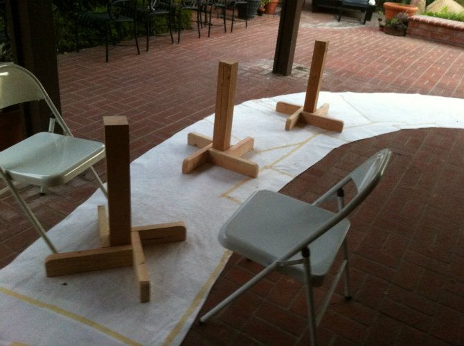 How To Build A Temporary And Off Center Dining Table That Seats Twenty Dining Table Table Outdoor Tables