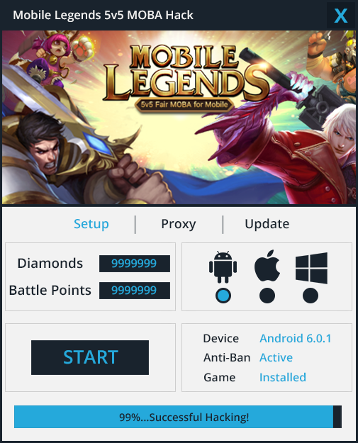 Download Mobile Legends Hack – Diamonds Generator  About our