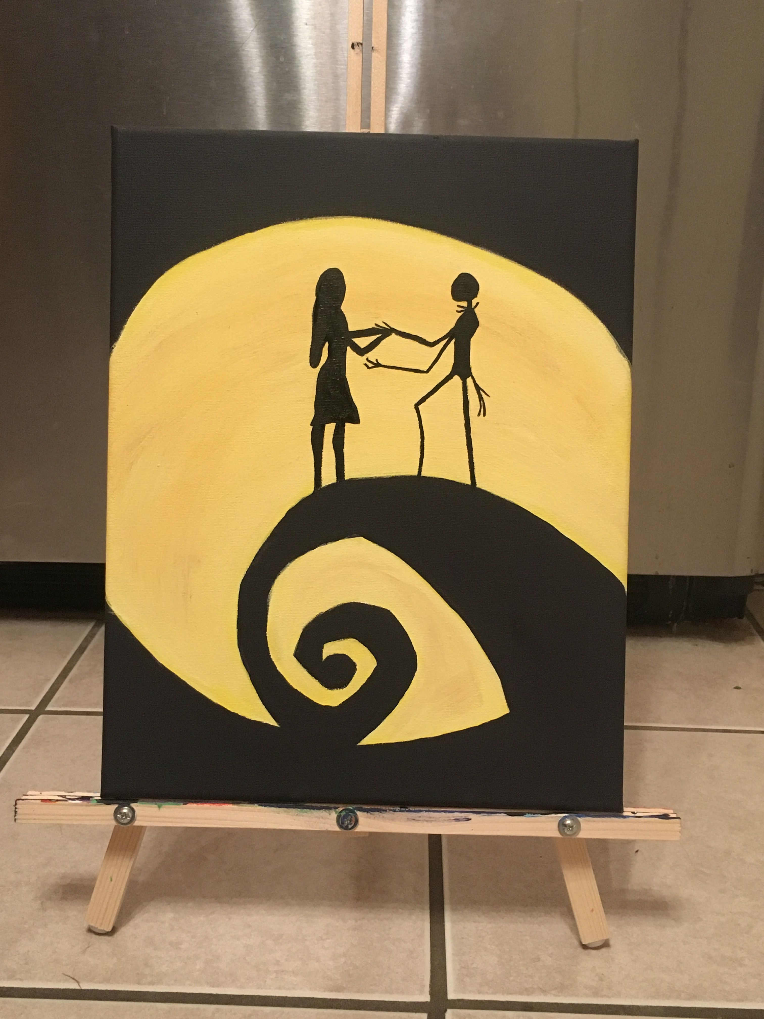 Nightmare Before Christmas Wall art | Acrylic Paintings in 2018 ...