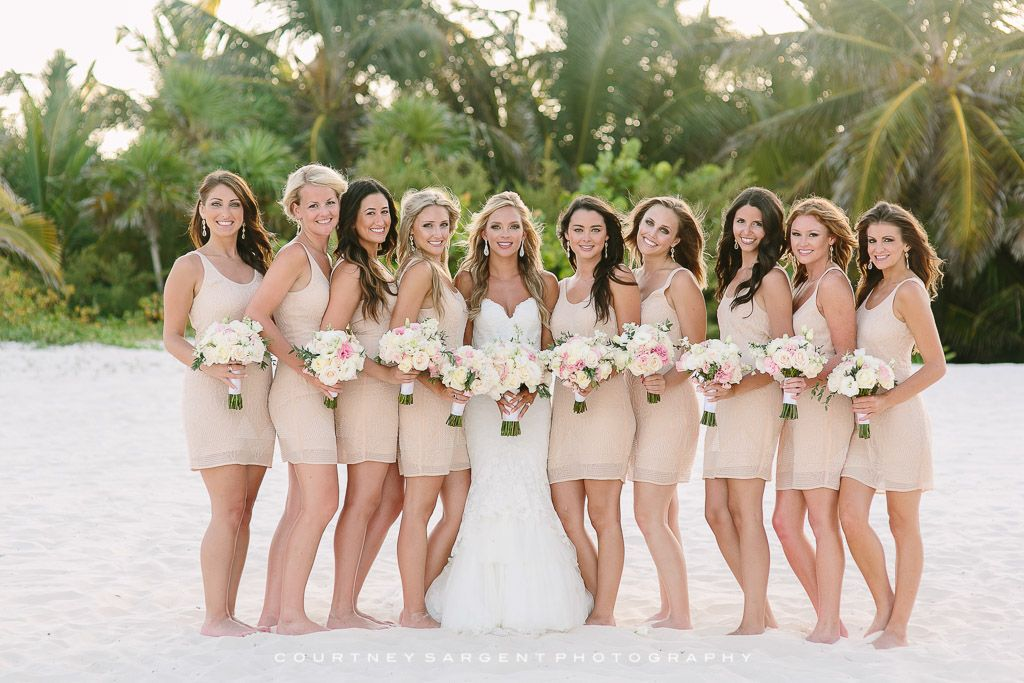 Hayley Cory S Secrets Maroma Beach Riviera Maya Destination Wedding Beach Wedding Bridesmaid Dresses Beach Bridesmaid Dresses Beach Wedding Attire