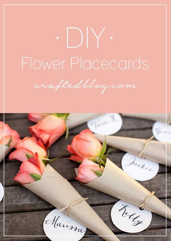 Crafted: DIY flower placecards