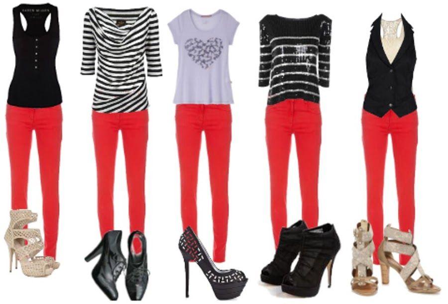 Fashion Trend - Calça Vermelha ~ Misturinha Básica