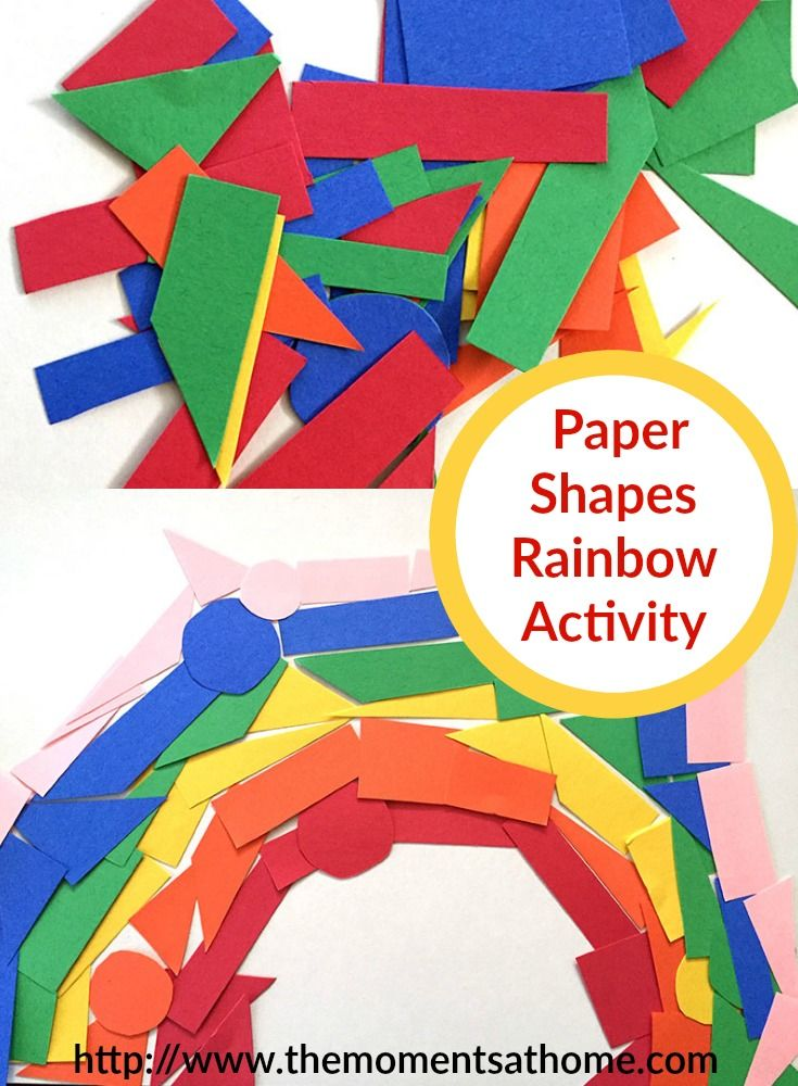 Construction Paper Shapes Rainbow Craft Virtual Book Club For Kids