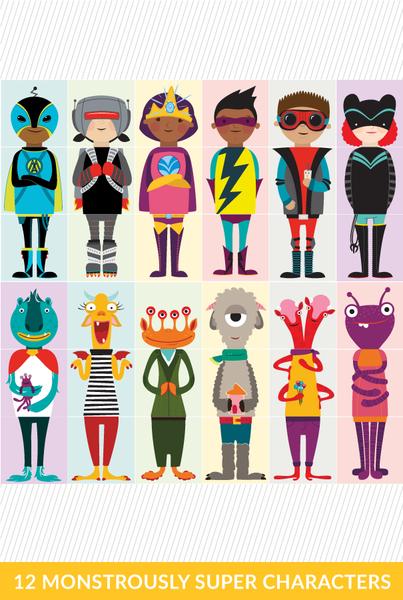 Olliblocks: Monsters & Superheroes