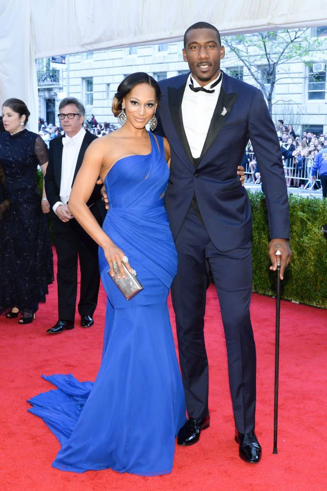 The 20 Most Stylish Couples at the 2014 Met Gala: Alexis and Amare Stoudemire