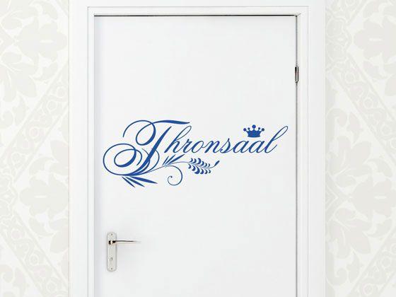 Wandtattoo Badezimmer Wandwort Thronsaal Mit Blumenelementen Und Krone Wandtattoo Thronsaal Und Wandtattoo Badezimmer
