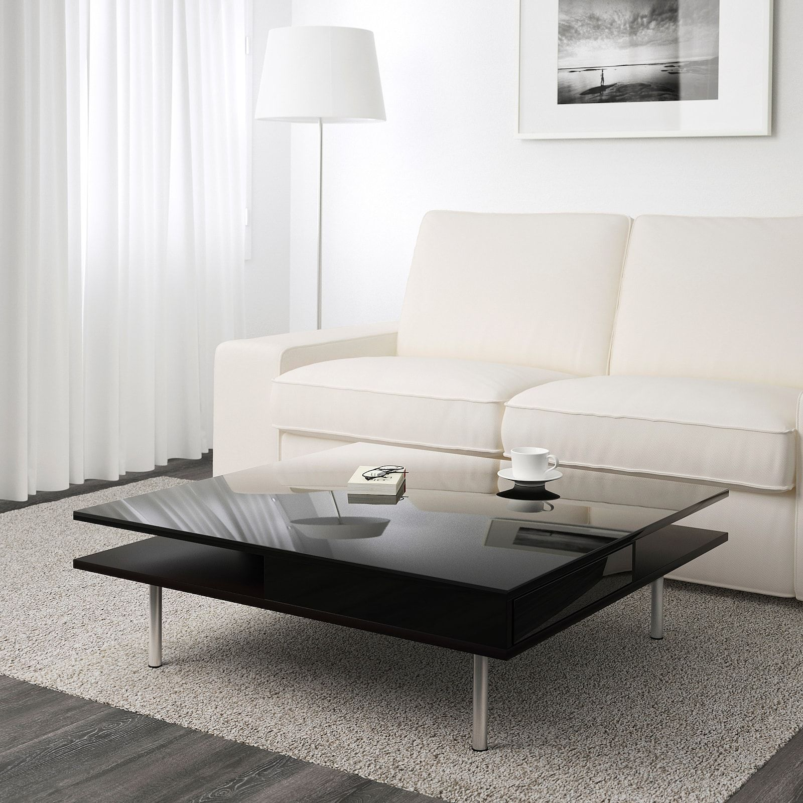 Tofteryd Coffee Table High Gloss Black 37 3 8x37 3 8 Ikea In 2021 White Living Room Tables Ikea Living Room Tables Ikea Coffee Table [ 1600 x 1600 Pixel ]
