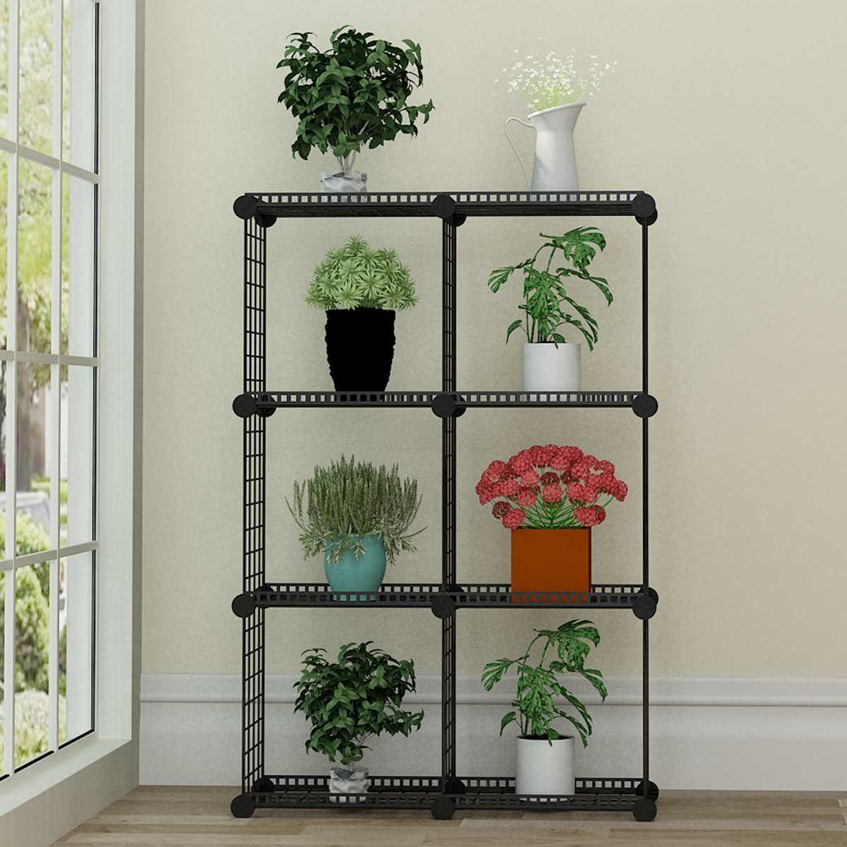 Jyyg Portable Plant Stands Custom Shaped Succulents Pot Shelf