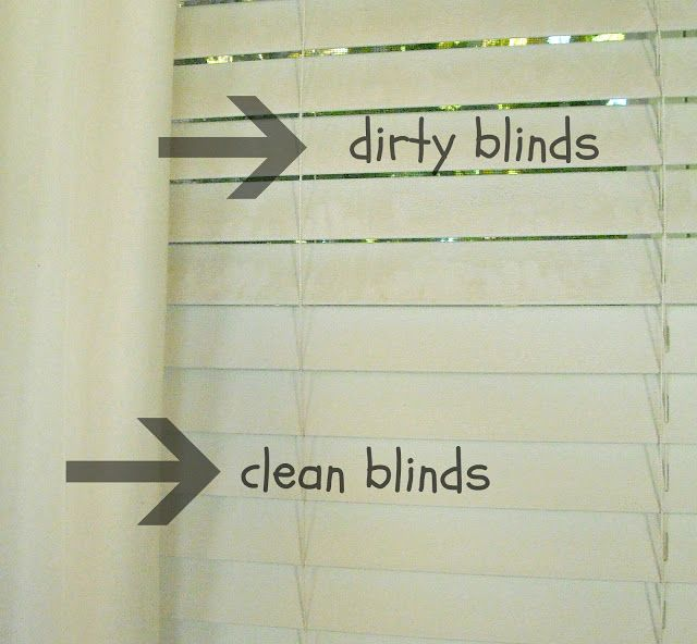 how to clean blinds So great, I needed this! How to Clean Dirty Blinds. So simple  how to clean blinds
