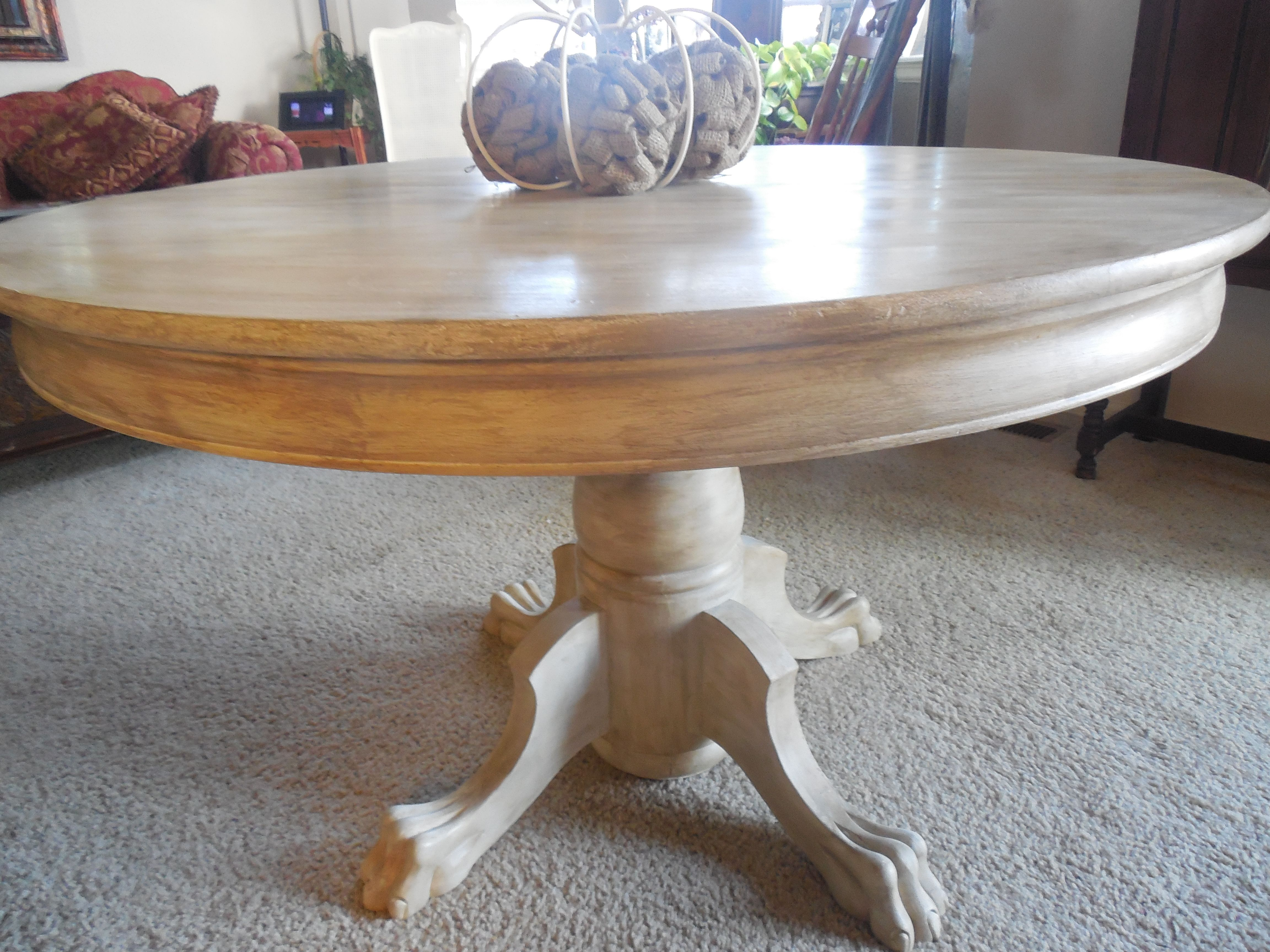 Claw Foot Table Makeover Restoration Hardware Style Dining Table