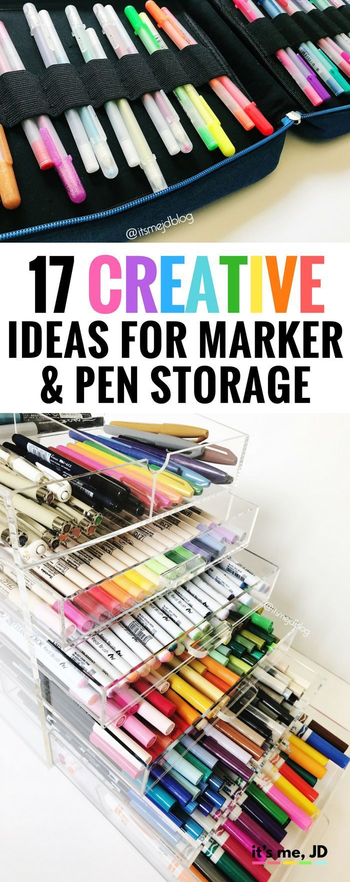 17 Creative Ideas For Marker And Pen Storage Marker